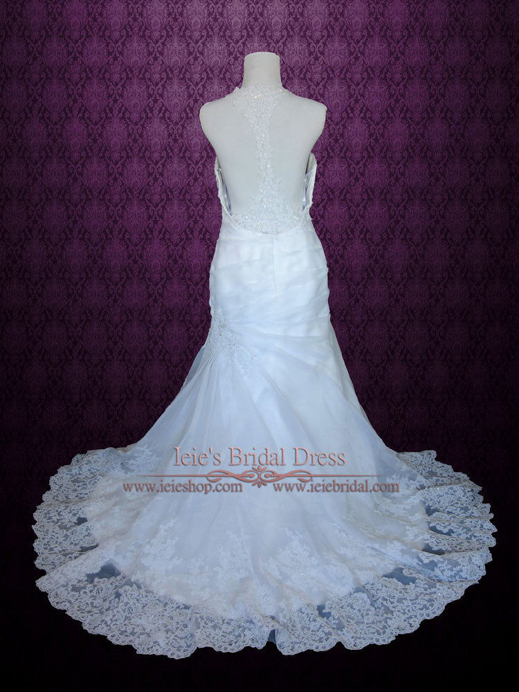 Razor Back Lace Fit And Flare Wedding Dress Joie Ieie