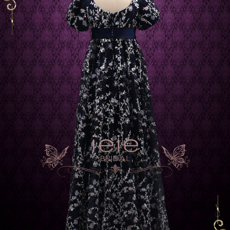 Regency Style Empire Dress with Floral Lace | ALICE