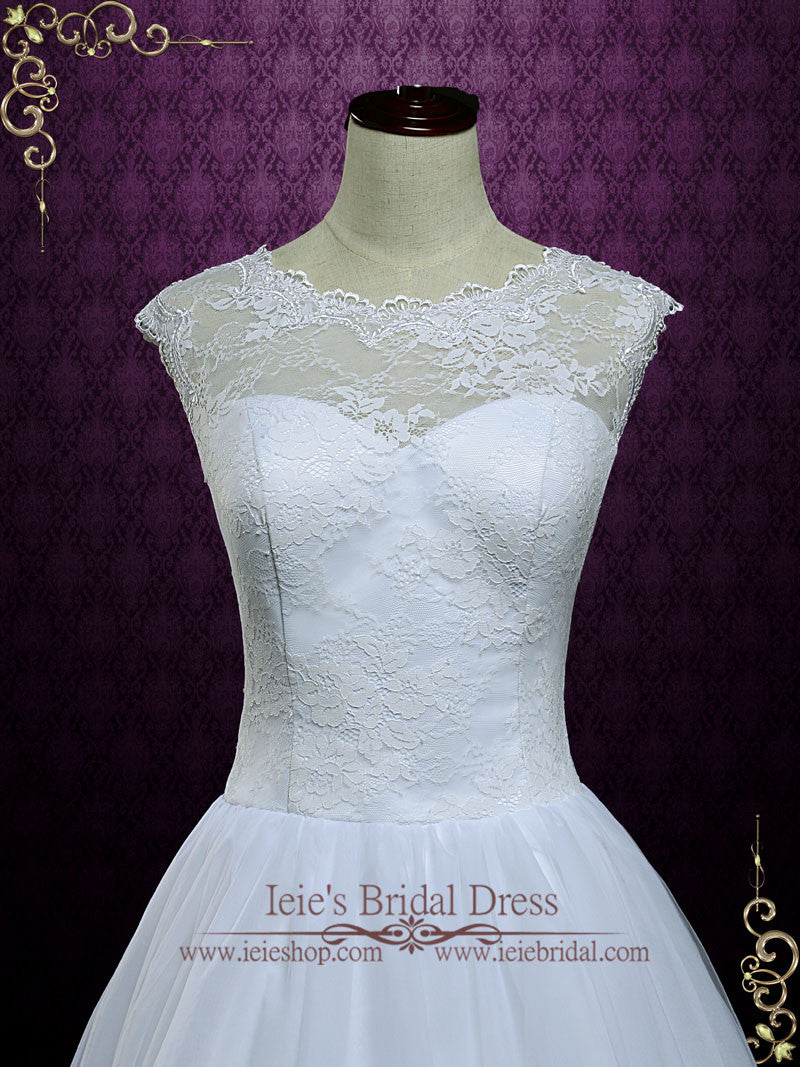 Short Lace Tea Length Wedding Dress | Mia – ieie