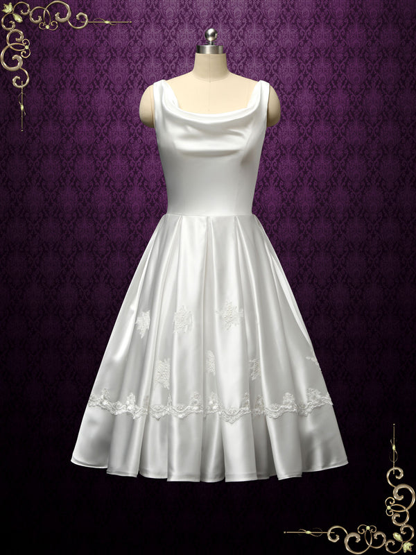 Retro Vintage Short Wedding Dress | Esther
