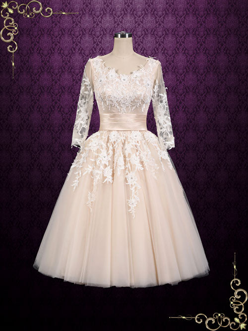Long 50s Wedding Dress