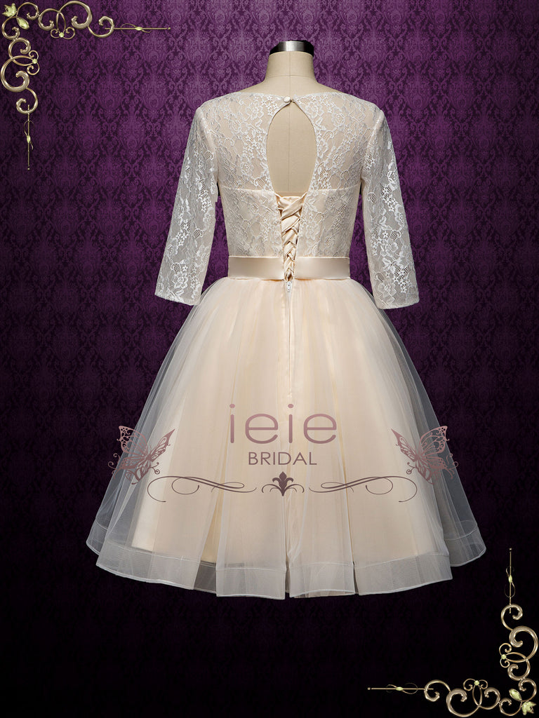 Short Champagne Reception Court Wedding Dress HARLEY