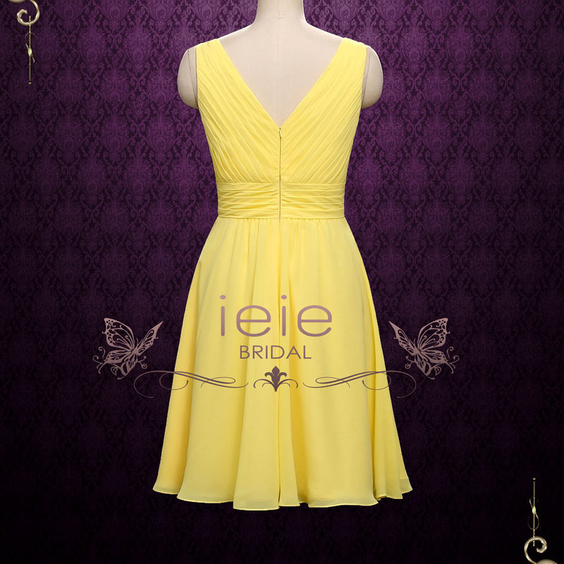 cef67bd2e68 Short Chiffon Bridesmaid Dress