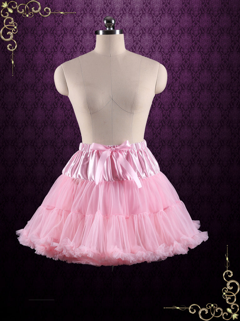 Pink Ruffle Soft Tulle Skirt