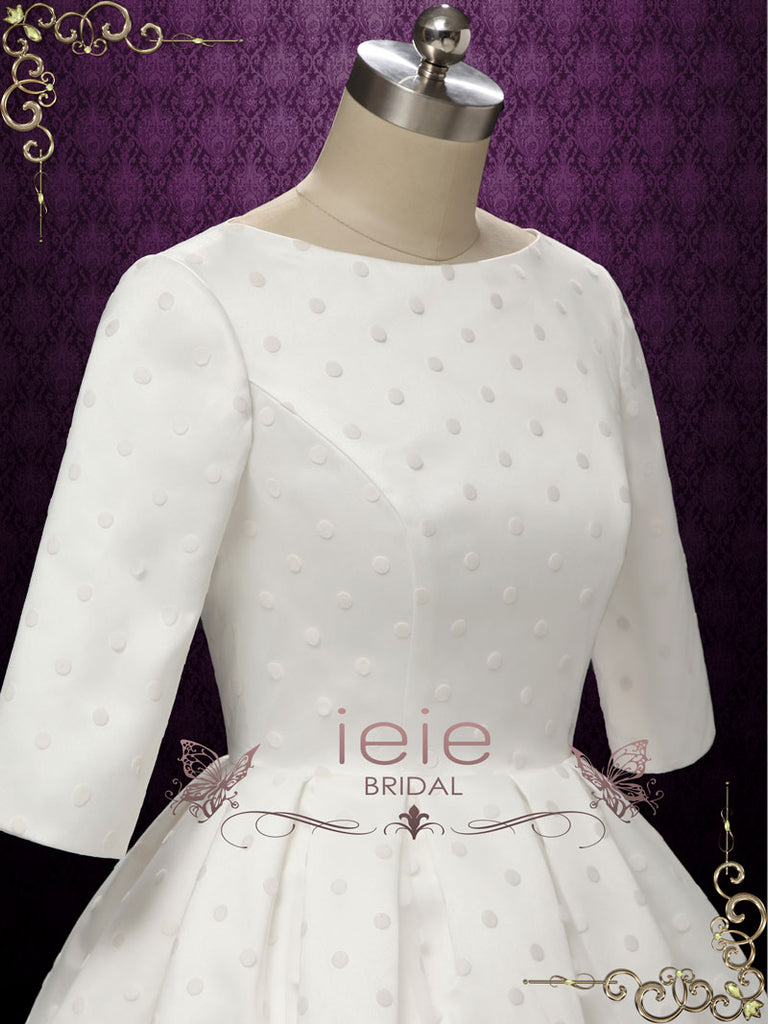 Short Retro Polka Dot Wedding Dress HEATHER