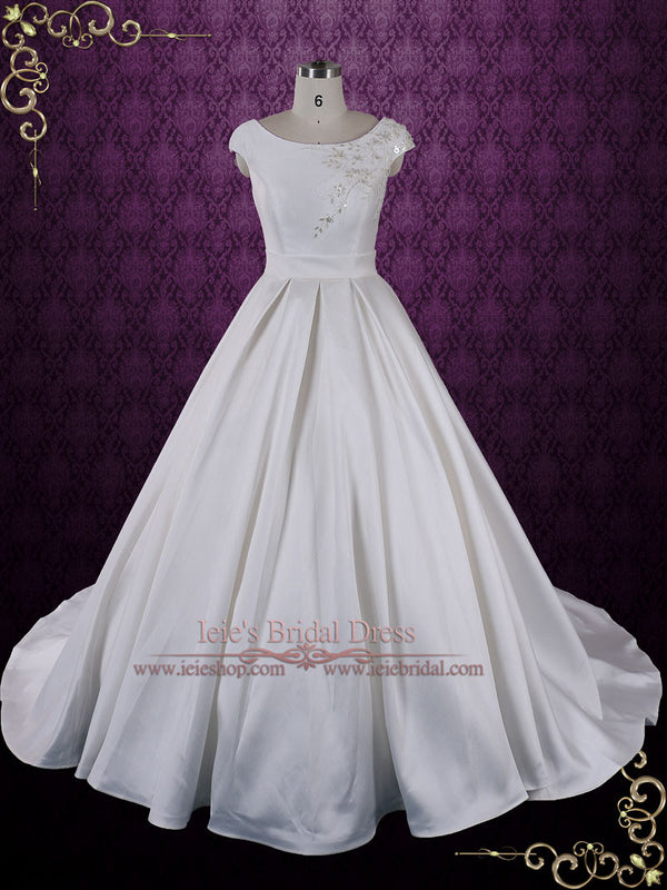 Cap Sleeve Ball Gown Wedding Dress