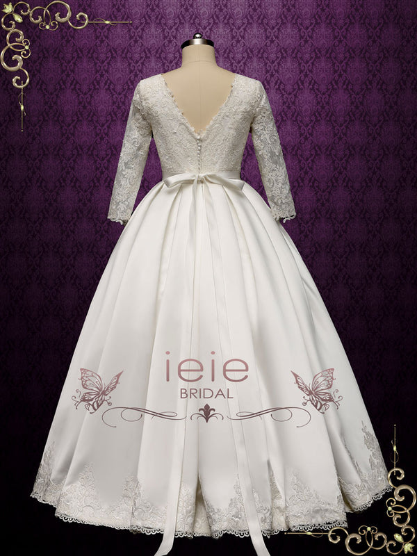 Princess Ball Gown Wedding Dress with Sleeves | Nora