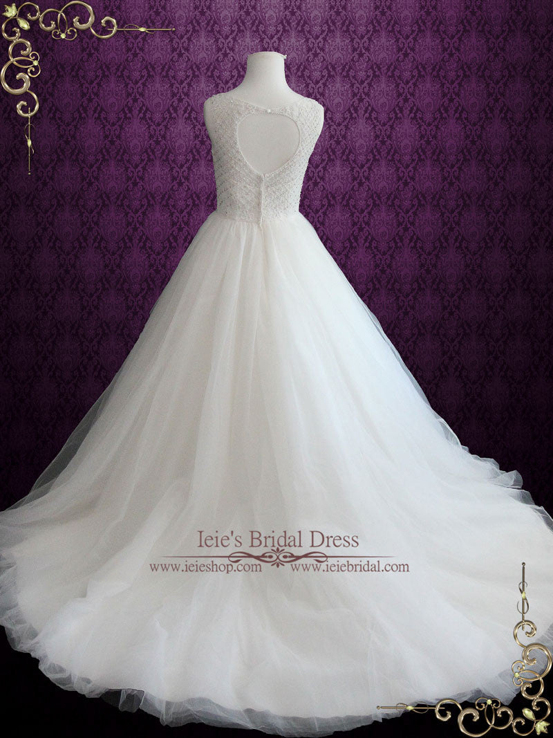 Princess Ball Gown Wedding Dress with Jeweled Bodice and Keyhole ...