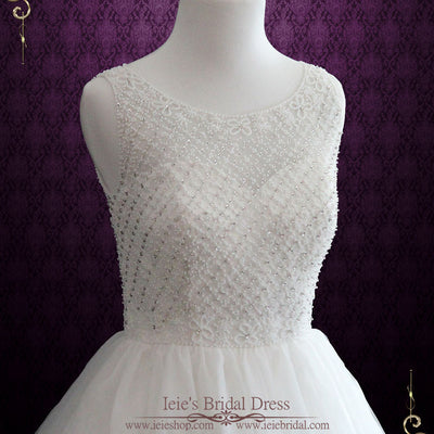 Princess Ball Gown Wedding Dress with Jeweled Bodice and Keyhole | Altha