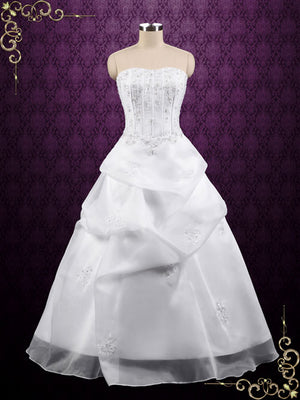 Strapless Corset A-line Organza Wedding Dress | Jomayne