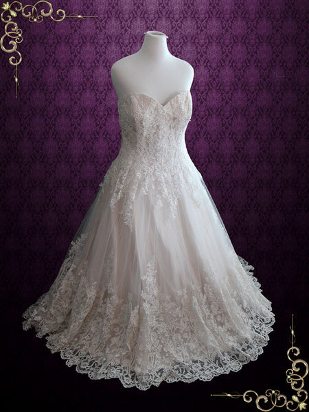 Strapless Lace Wedding Dress | Margaret