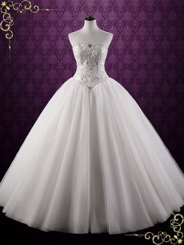 Fairy Tale Lace Ball Gown Wedding Dress | Bella