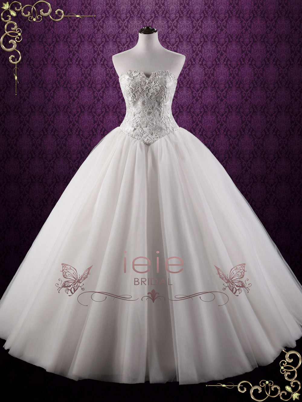 Fairy Tale Lace Ball Gown Wedding Dress Bella Ieie Bridal