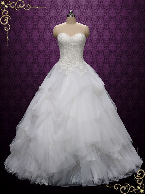 Strapless Ball Gown Wedding Dress | Erina