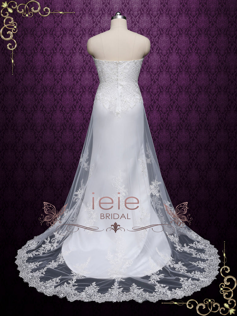Strapless Slim A-line Lace Wedding Dress LYN