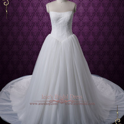 Timeless Strapless Princess Tulle Ball Gown Wedding Dress | Celine
