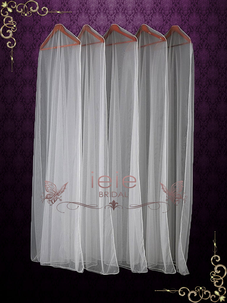 Extra Long Clear Tulle Wedding Dress Covers
