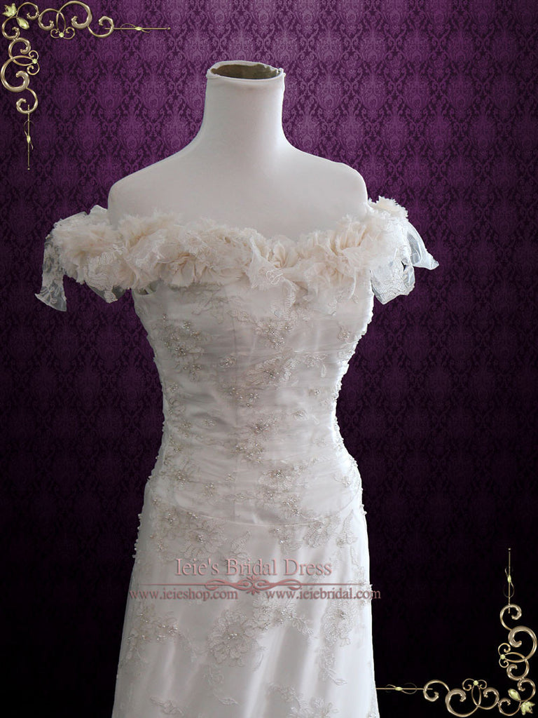 Vintage Inspired Unique Lace Wedding Dress MACKENZIE