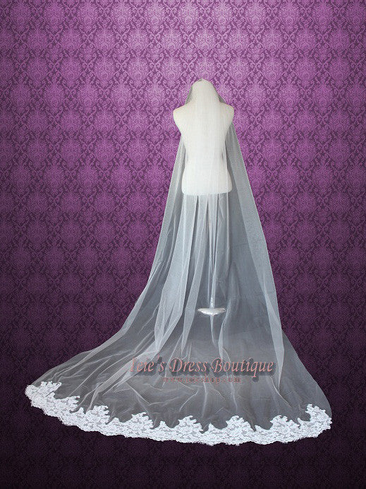 Cathedral Length Lace Wedding Veil VG1021