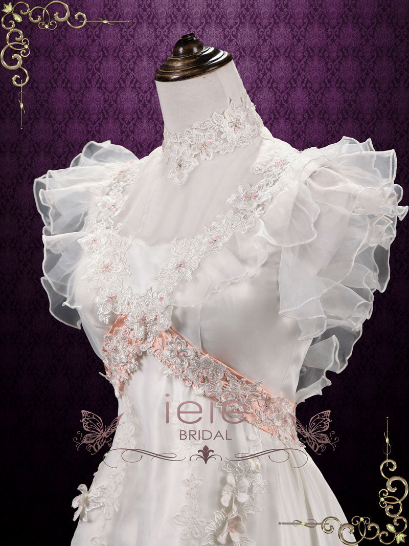 Vintage Victorian Style Short Lace Wedding Dress | Alma – ieie