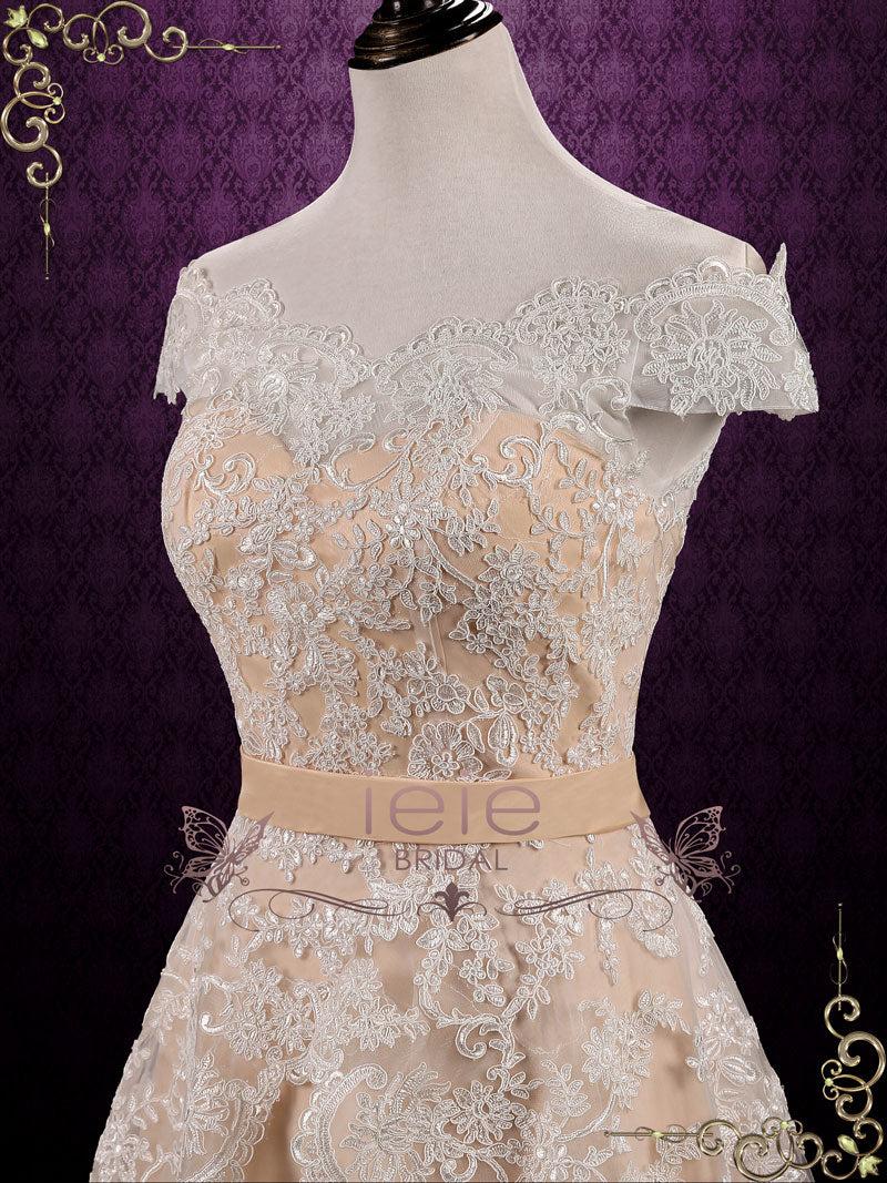 Champagne Lace Skirt