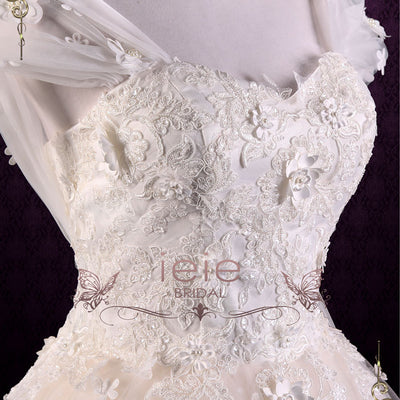 Vintage Inspired Short Tea Length Lace Wedding Dress | Rosie – ieie
