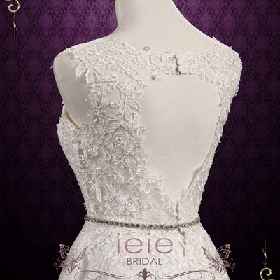 Vintage Inspired Lace Hi-Low Wedding Dress | Nellie