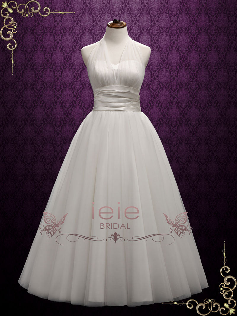Vintage Halter Marilyn Style Wedding Dress