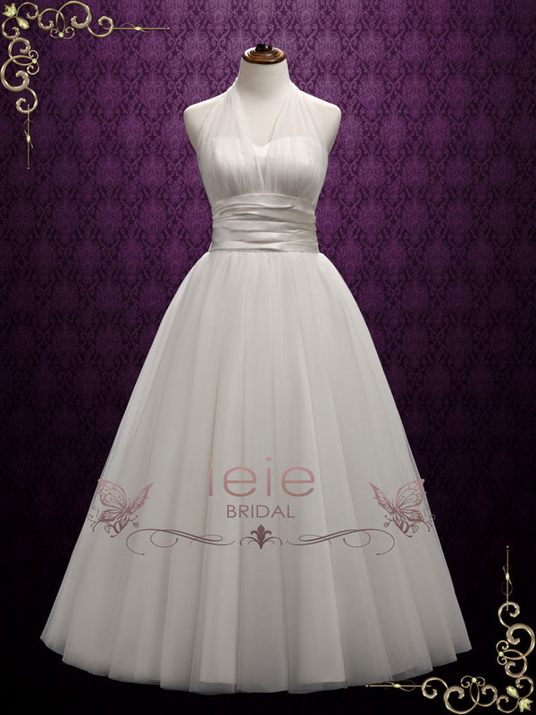 Vintage Halter Marilyn Style Wedding Dress | Marilyn