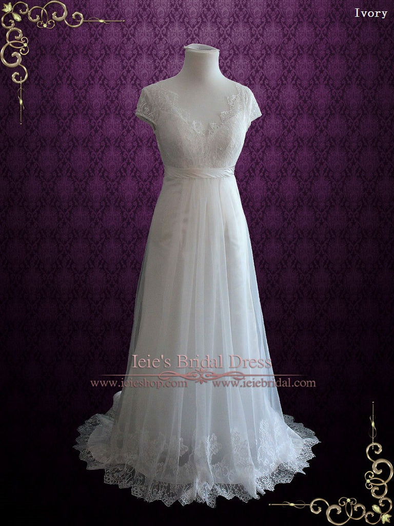 Ready to Ship Vintage Lace Wedding Dress CHARISSA
