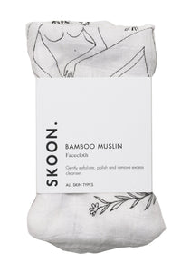 SKOON | Bamboo Muslin Facecloth