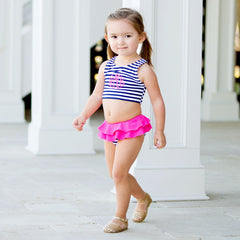 Kids Navy Prep Stripe Swimsuit
