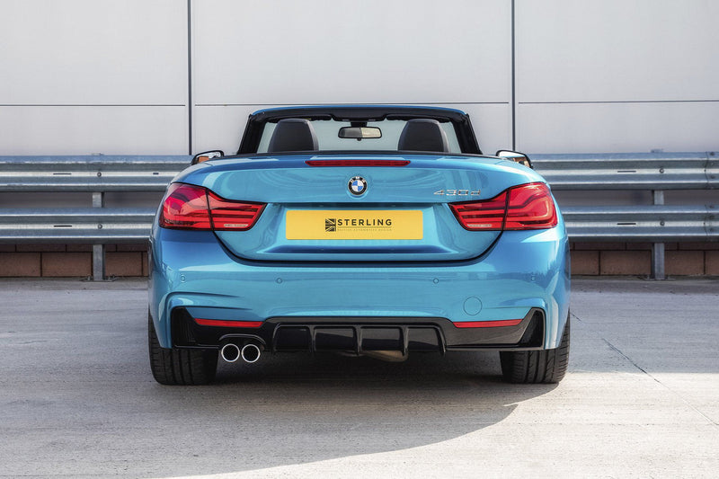 BMW 4 Series M Performance Style Rear Diffuser (F32/F33) - Twin Tailpipe Left Exit