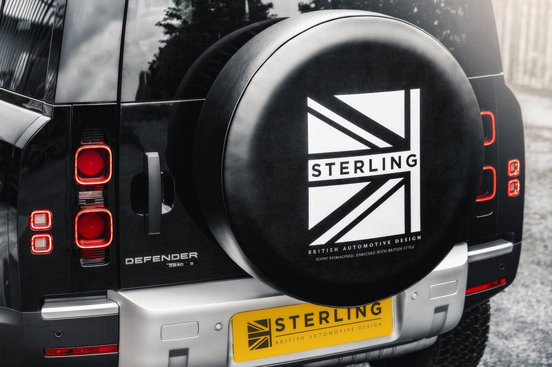 Sterling Flag Motif Wheel Cover