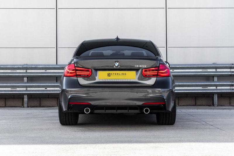 BMW 3 Series M Performance Style Rear Diffuser (F30/F31) - Single Tailpipe Twin Exit