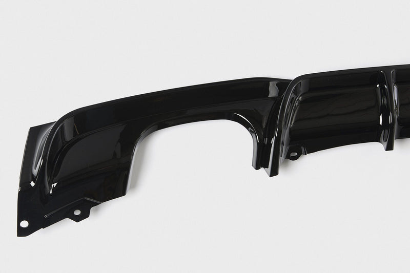 BMW 3 Series M Performance Style Rear Diffuser (F30/F31) - Twin Tailpipe Twin Exit