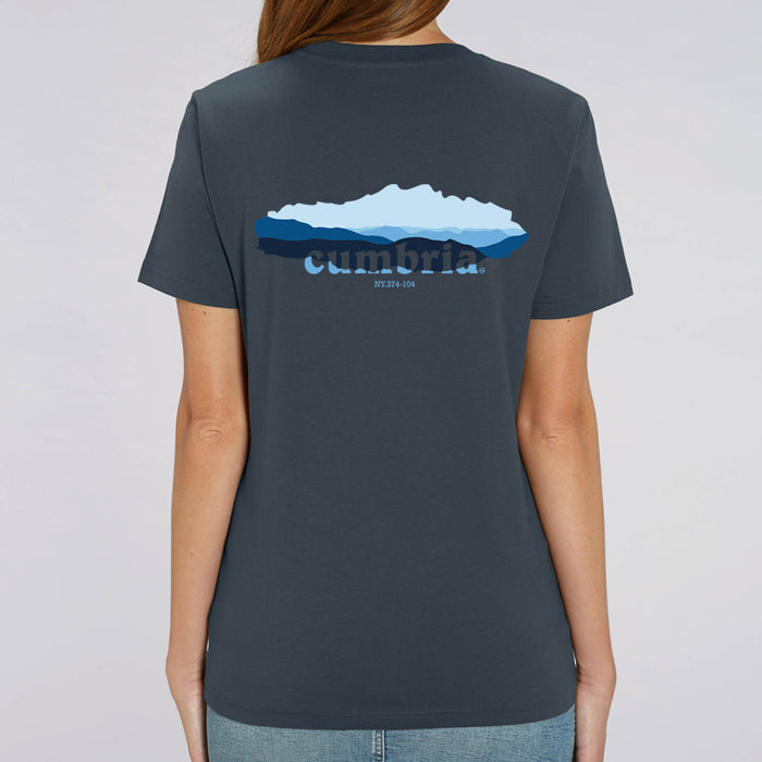Dove Crag - Womens - T shirt - Indian Ink