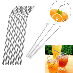 Reusable Drinking Stainless Steel Straw (6pcs)