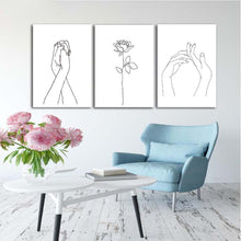 Load image into Gallery viewer, Abstract Women Line Canvas Wall Art