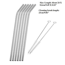 Load image into Gallery viewer, Reusable Drinking Stainless Steel Straw (6pcs)