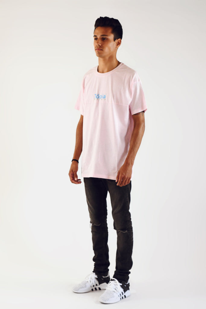 Honolulu Panel Tee in Ash Rose - TŌPIA