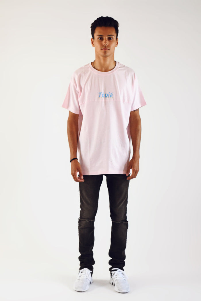 Honolulu Panel Tee in Ash Rose