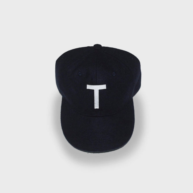 T Wool Cap in Navy - TŌPIA
