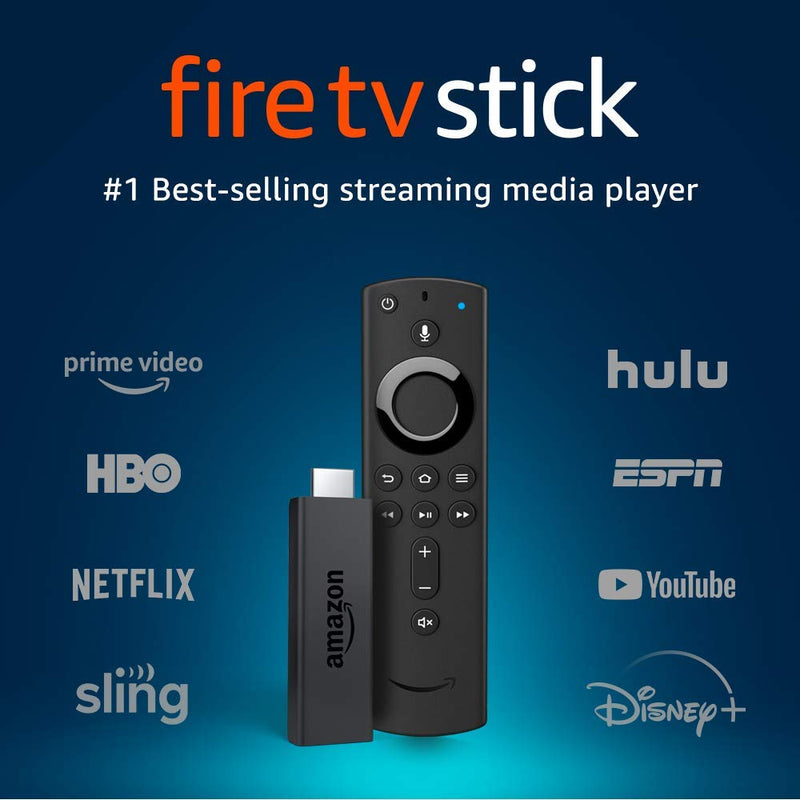 Fire TV Stick streaming media player with Alexa built in