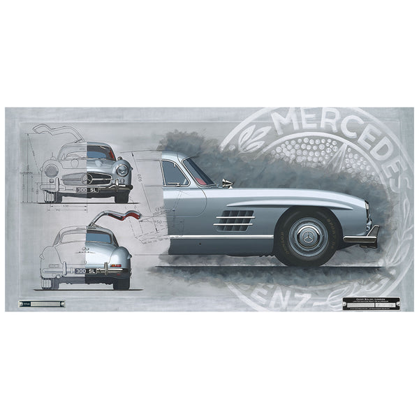 Mercedes 300SL 'Gullwing' Limited Edition Print