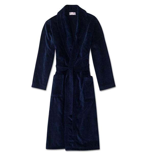 Triton 10 Navy Cotton Velour Towelling Gown