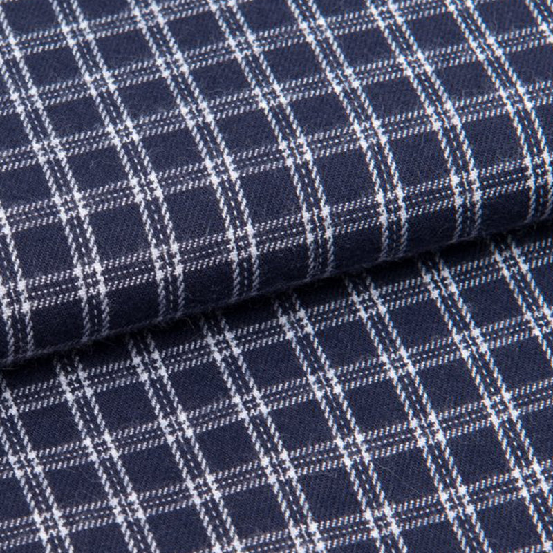 Braemar 32 Navy Check Cotton Classic Fit Pyjamas