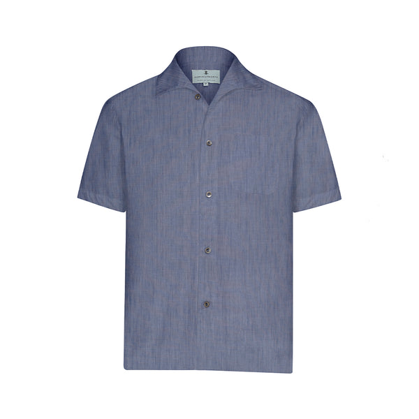 Indigo Chambray Short Sleeve Marina  Shirt
