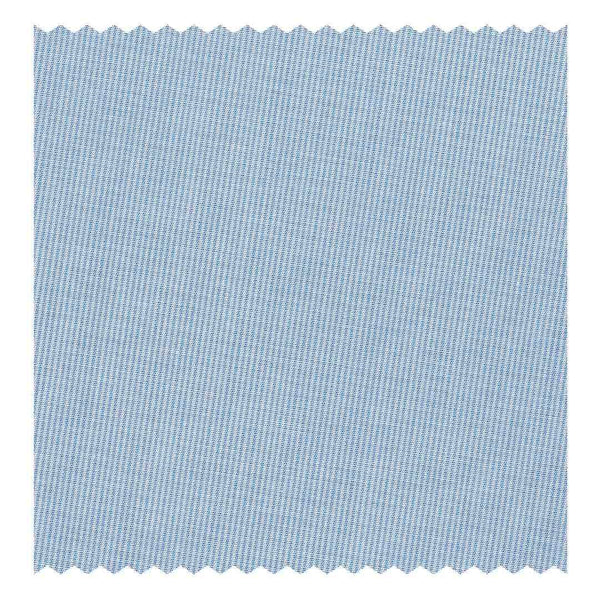 Sky-Blue Hairline-Stripe Poplin (2 Fold 120's)