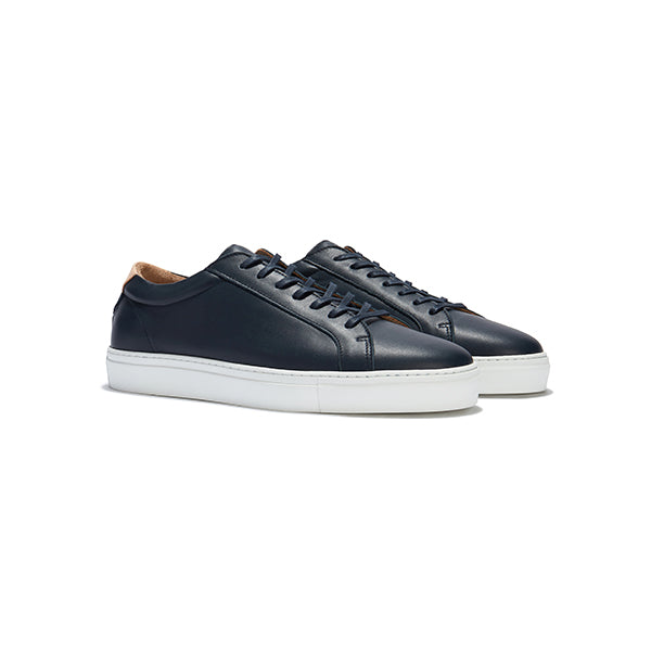 Navy Leather Series 1 Sneakers